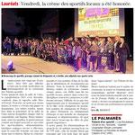 06 Décembre 2015 (Midi Libre): Soirée des Talents Sportifs