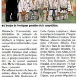 26 Novembre 2013 (Midi Libre): Le JKF vainqueur à Gignac