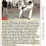 22 Mai 2010 (Midi Libre): 1er Challenge Chabanon, une réussite !