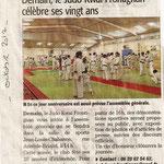 Octobre 2012 (Midi Libre): Le Judo Kwaï Frontignan célèbre ses vingt ans