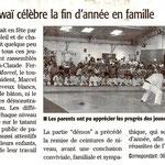 29 Juin 2011 (Midi Libre): Une Fête de fin d'année en famille