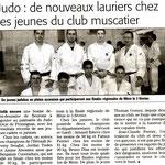 Janvier 2007 (Midi Libre): Les Jeunes du JKF