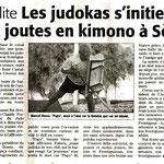19 Juillet 2008 (Midi Libre): Le JKF aux Joutes avec l'AJS (Avenir des Jouteurs Sètois)