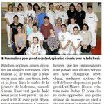 15 Mars 2013 (Midi Libre): La Journée de la Femme au JKF