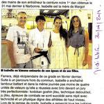 30 Juin 2014 (Midi Libre): CN pour Isabelle Farrera
