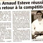 09 Janvier 2007 (Midi Libre): Arnaud Estève 1er Dan