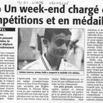 02 Décembre 2008 (Midi Libre): Un Week-End chargé en compétitions et en médailles