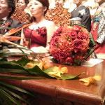 真っ赤なプリザーブドフラワーブーケ 葉もの 名古屋市