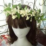 花嫁様花冠 造花