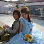前撮り ぶりードレス ブーケ 八事結婚式場