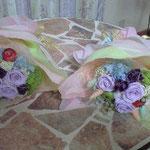 両親花束 バイオレットカラー