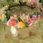 レインボーフラワー花冠 子供用