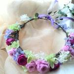 紫濃淡プリザーブド花冠