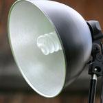 Studiolampe im Industriedesign mit Aluminiumschirm