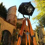 Onkel Edison Loft Stehlampe alter Theater-Scheinwerfer