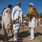 A une cérémonie orthodoxe à Axum, musiciens