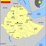 Carte générale de l'ETHIOPIE