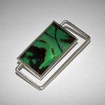 Grüner Achat mit 925er Silberdraht, leider verkauft