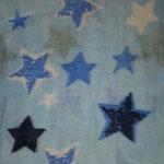 Musseline Hellbalau, Sterne Dunkelblau