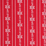 Edelweisstoff Baumwolle Barchent Schweiz-rot