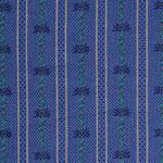 Edelweisstoff Baumwolle Barchent Fleur Blau
