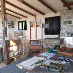 Atelier aquarelle Claude Nicaud, Brousses les Antibel, Saint Antonin Noble Val