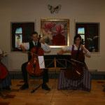 Ein Streicherquartett nach dem ersten Teil des Konzertes. (v.l.n.r.: Roswitha Wegerer, Berhard Wegerer, Evelyn Hupf, Birgit Eingang)