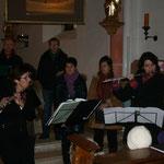 Eine instrumentale Einlage der Liezener Vokalisten.