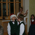 Nochmals Rudolf das kleine Rentier mit dem Weihnachtsmann.