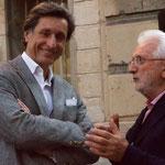 PATRICK DE CAROLIS (JOURNALISTE-ECRIVAIN) et L. CLERGUE