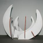 """""""O.T."""" 33,5 x 40 x 29 cm, 2009, Holz, Lack, Aquarellfarbe"""