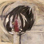 "Aus der Serie ""Vita"", 2002, 129 x 118 cm, Collage, Acryl, Papier, Kohle auf Papier"