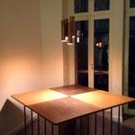Berlino, Gleimstrasse 52 -  Interno52: tavolo MILLEPIEDI e PLUVIA sospensione