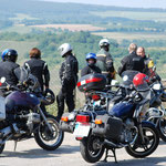 Motorradgruppe auf Tour