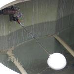 ボールタップ破損により漏水しておりました。