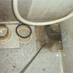 お風呂場の排水口から床下排水管までを洗浄。