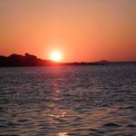 Coucher de soleil à Port-Blanc Bretagne