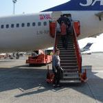 Einsteigen in Richtung Oslo