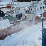 Hafen von Hammerfest in früher Morgenstunde