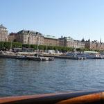 Stockholm vom Schiff aus.
