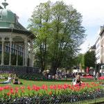 Grünanlage mit Musikpavillon an der Christies gate
