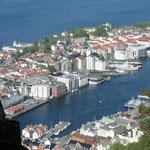 Der Hafen von Bergen.
