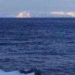 Sicht aus dem Hafen von Hammerfest in früher Morgenstunde