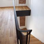 Dielen Eiche Sägerau Treppenhaus