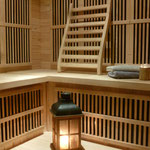 Yourte et sauna