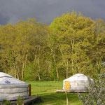 vacances à la ferme : location d'une yourte