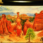 "Bryce Canyon, UT, USA. ""Travel"" series ACEO card. Painted in February 2017."