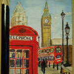 "London, England. ""Travel"" series ACEO card. Painted in January 2017."