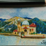 "Perast, Montenegro. Painted for my friend Olga. ""Travel"" series ACEO card. November 2016."
