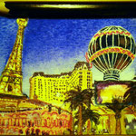 "Las Vegas, NV, USA. ""Travel"" series ACEO card. Painted in December 2016."
